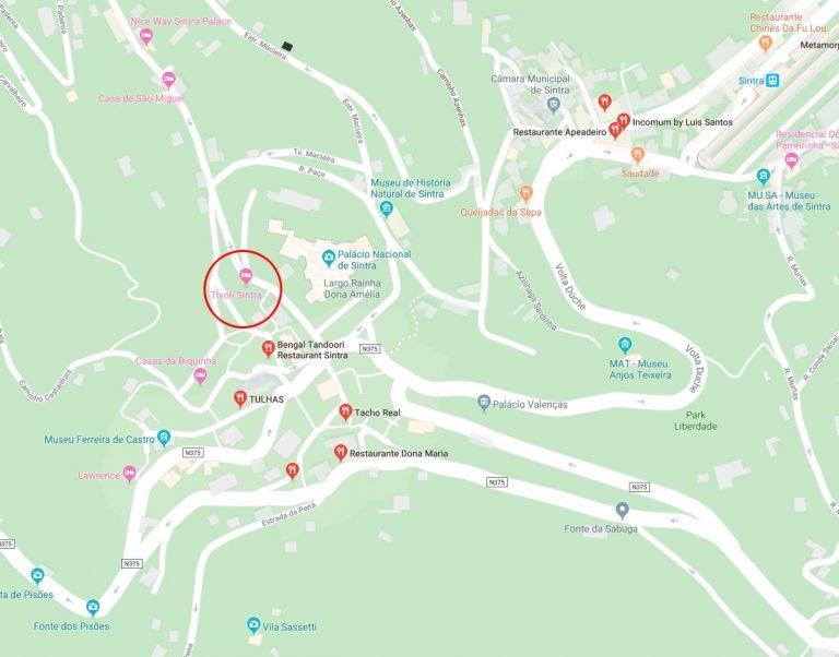Mapa - Hotel Tivoli - Sintra