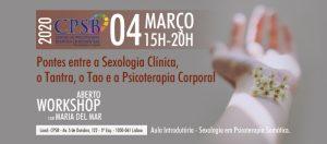 Workshop - Pontes entre a Sexologia Clínica, o Tantra, o Tao e a Psicoterapia Corporal.